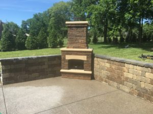 Franklin outdoor fireplaces
